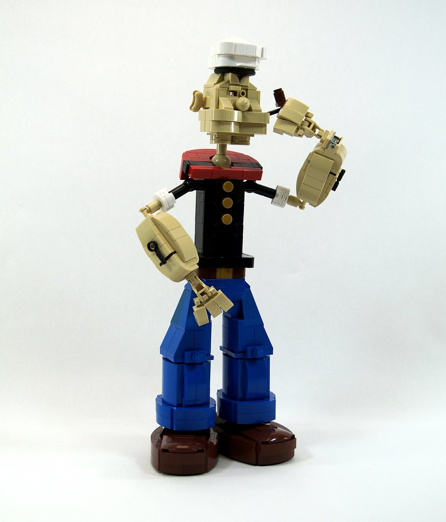 Popeye the Sailor (custom built Lego model)