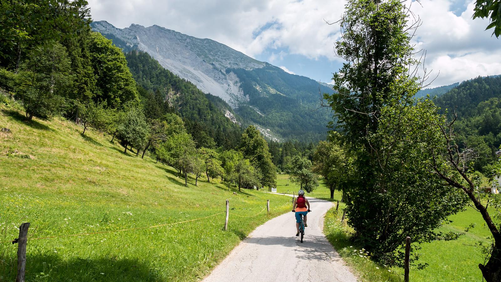 Pienessä kylässä Sloveniassa