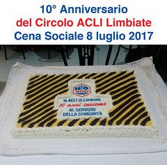 Cena Sociale 8-7-2017 - 10 anniversario D