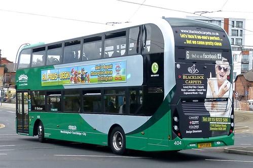 YP17 UFD 'Nottingham City Transport' No. 404 Scania N280UD / Alexander Dennis Enviro 400CBG City /2 on 'Dennis Basford's railsroadsrunways.blogspot.co.uk