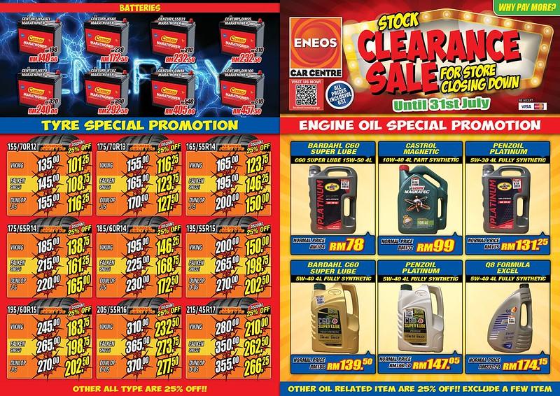 eneos malaysia closing down sale