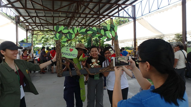 R.U.M. mangrove photo booth at the Pesta Ubin 2017