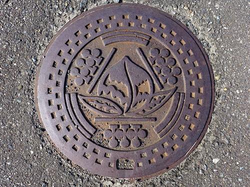 Kariwa Nigata, manhole cover 2 (新潟県刈羽村のマンホール2)