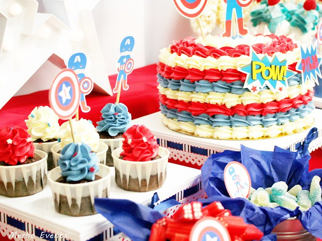 decoracion mesa capitan america Merbo Events