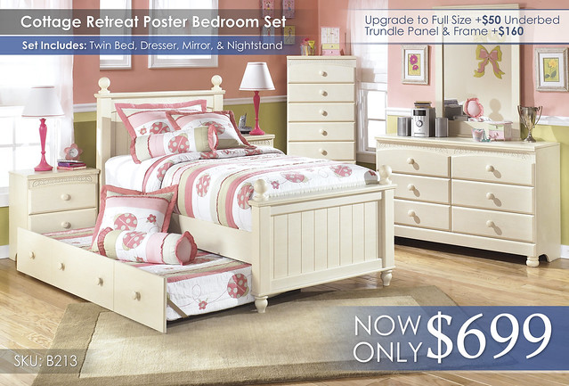 Cottage Retreat Poster Bedroom Set B213-21-35-46-T-PST-50-92-A-SD