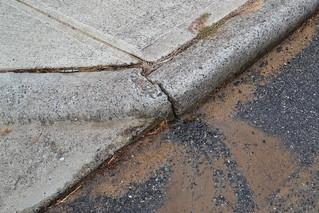 Leaking pavement