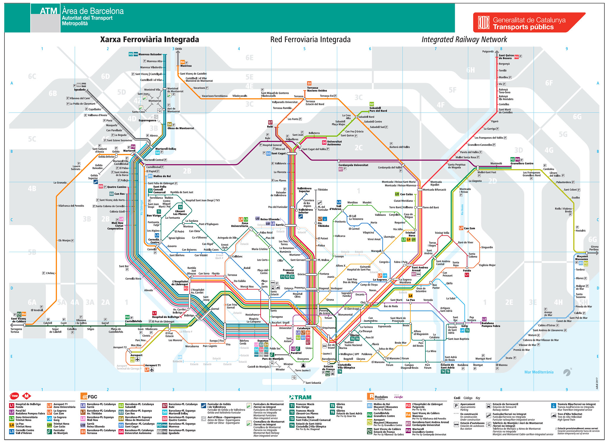 Spain ATM Metro MAP