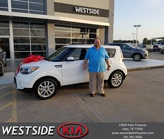 Congratulations Harland on your #Kia #Soul from Antonio Page at Westside Kia!