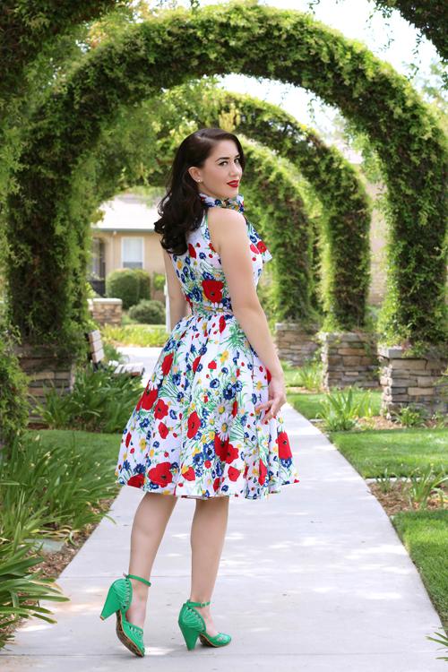 Trashy Diva Streetcar Dress in Wildflowers Southern California Belle