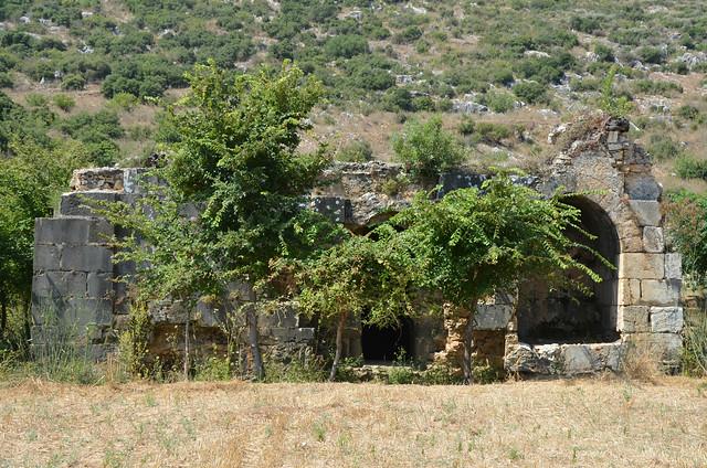The so-called Şekerhane Köşkü, a cenotaph for the deceased emperor Trajan, Selinus, Cilicia, Turkey