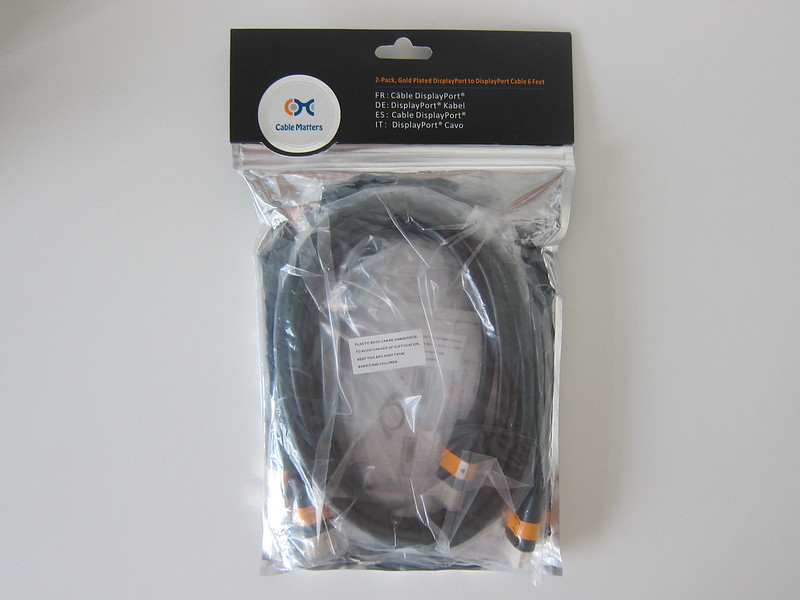 Cable Matters DisplayPort to DisplayPort Cable - Packaging