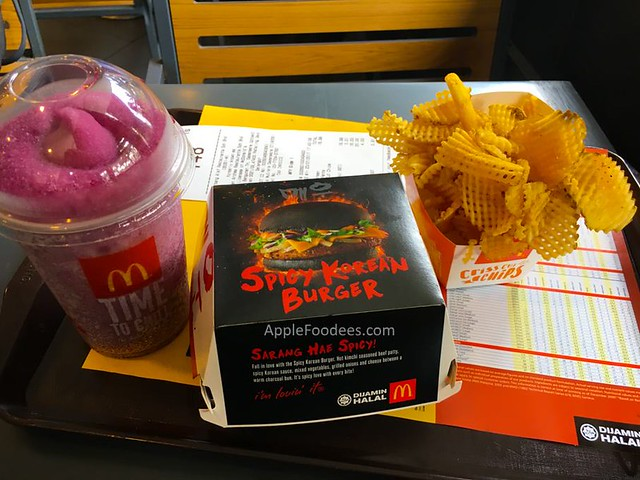 mcdonalds-spicy-korean-burger set
