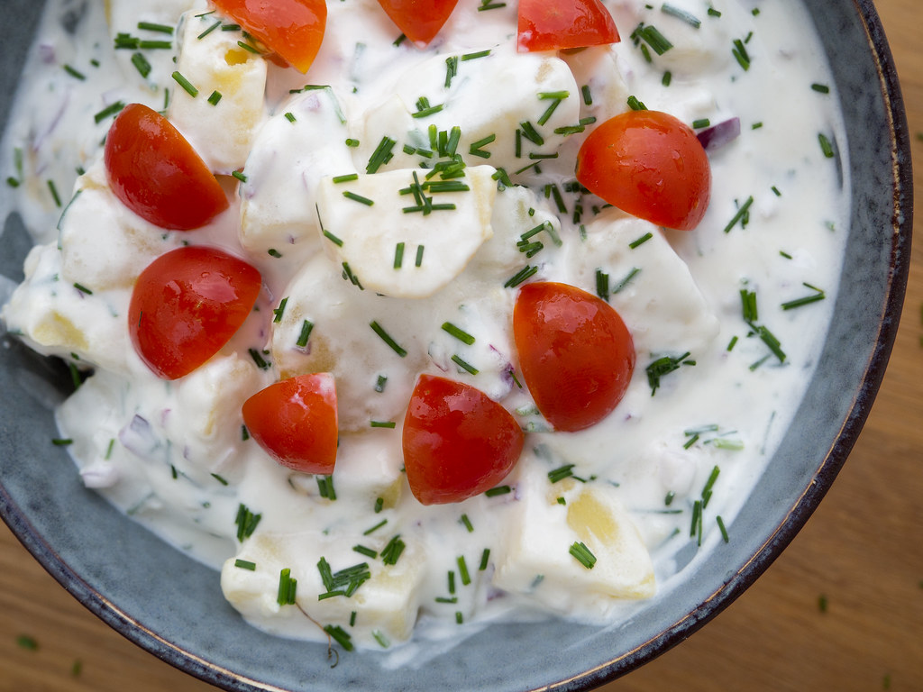 Recipe for Homemade Danish Cold Potato Salad (Kold kartoffelsalat)
