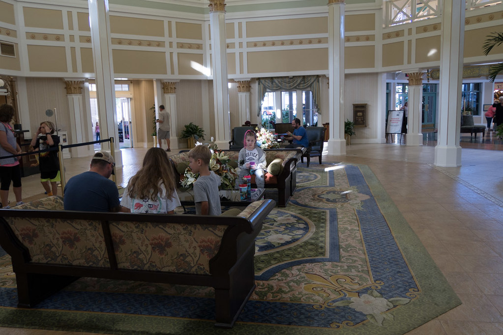 Reception area at Port Orleans Riverside