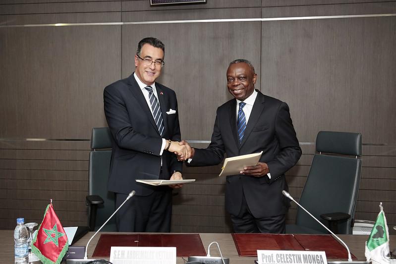 Cérémonie de Signature avec le Maroc - 14 juillet 2017 - Siège de la BAD Abidjan