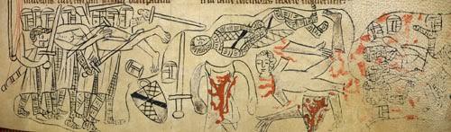 Death of Simon de Montfort at the Battle of Evesham