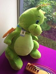 Jelly Bean the Fendalton Library staff dragon