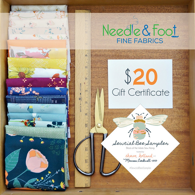 A Sewcial Bee Giveaway with Needle and Foot
