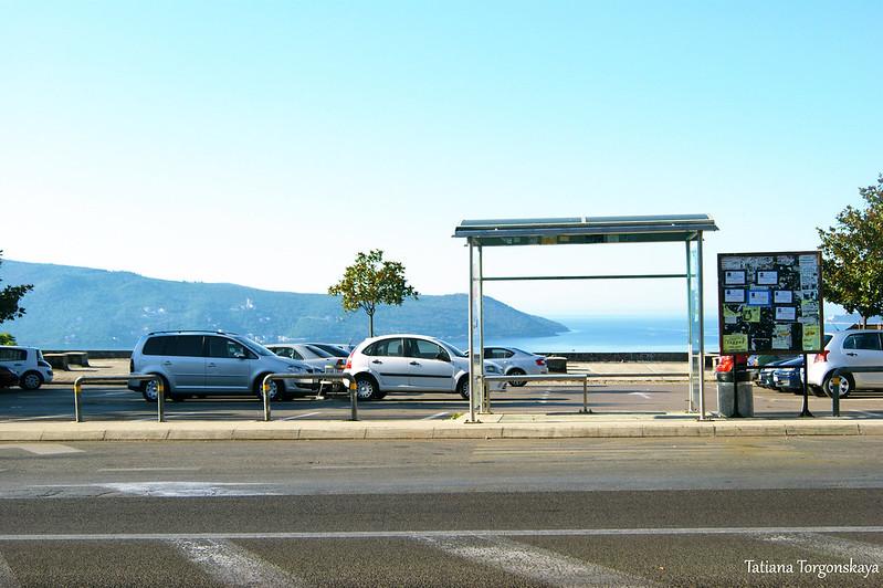 Остановка междугороднего транспорта в Херцег Нови