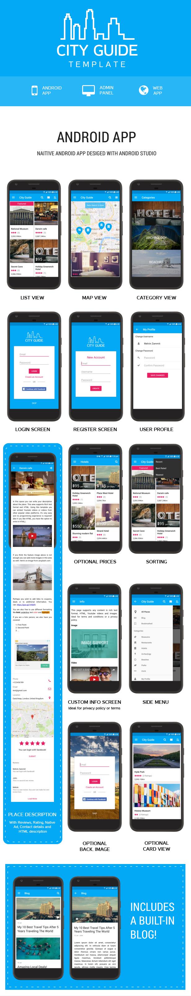 Templat Aplikasi Panduan Kota Terbaik - 5
