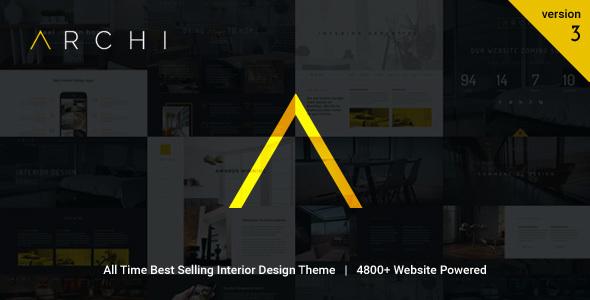 Archi v3.5.3.0 – Interior Design WordPress Theme