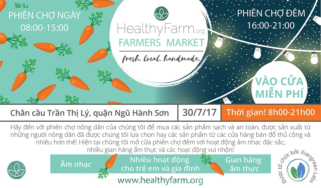 Phiên chợ Nông dân Healthyfarm Tháng 7/2017 1