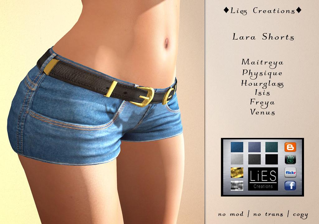 Lara Shorts w.HUD - SecondLifeHub.com