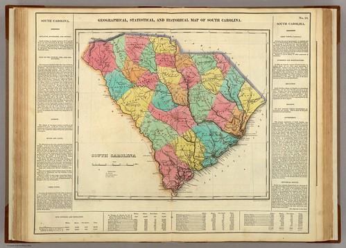 1822 Carey & Lea Map of South Carolina