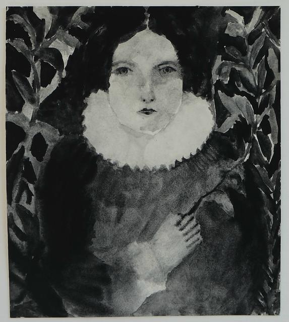 within a garden - monochrome portrait