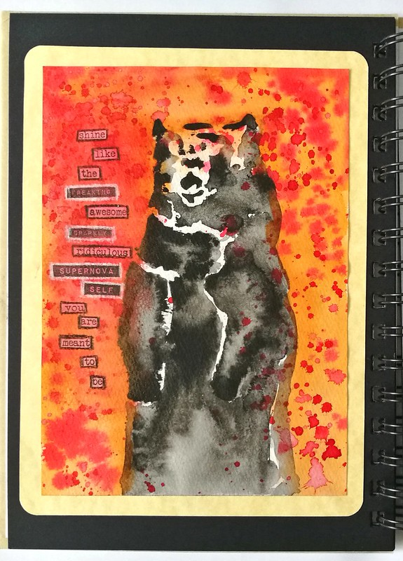 Art Journal: supernova bear