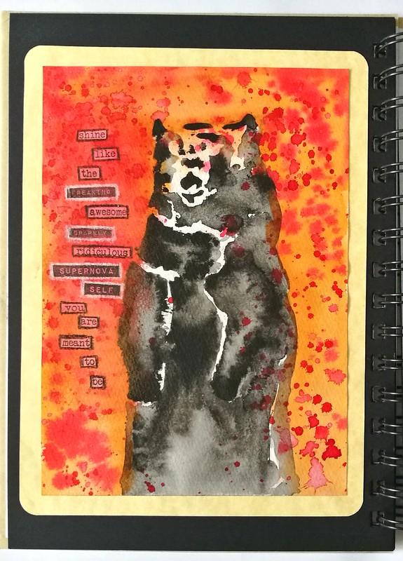 Art Journal: supernova bear