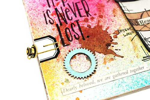 Meihsia Liu Simply Paper Crafts Mixed Media Art Journal Drink Coffee Simon Says Stamp Tim Holtz  4