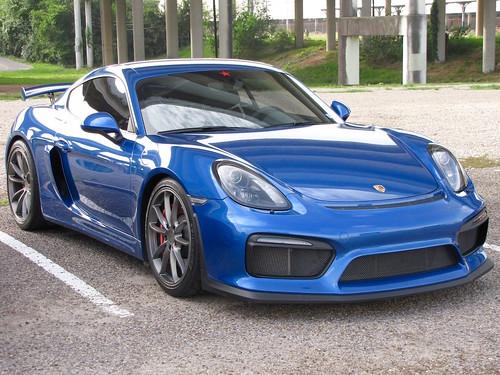 Blue Porsche Cayman GT4