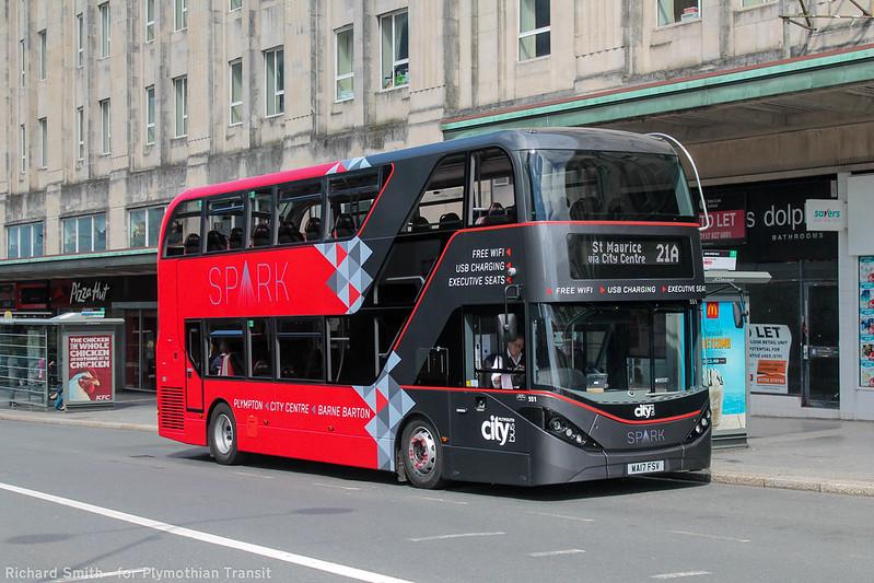 Plymouth Citybus 551 WA17FSV
