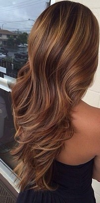 The-Highlighted-Hair-Idea-for-Very-Long-Brown-Wavy-Hair