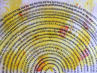 31b - Alphabet Mandala - Art Journal Page