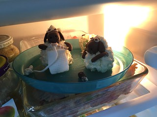 sheep cake topper