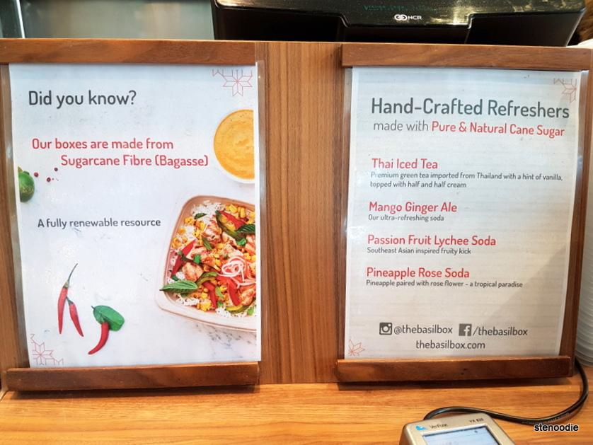 Basil Box info and drink menu