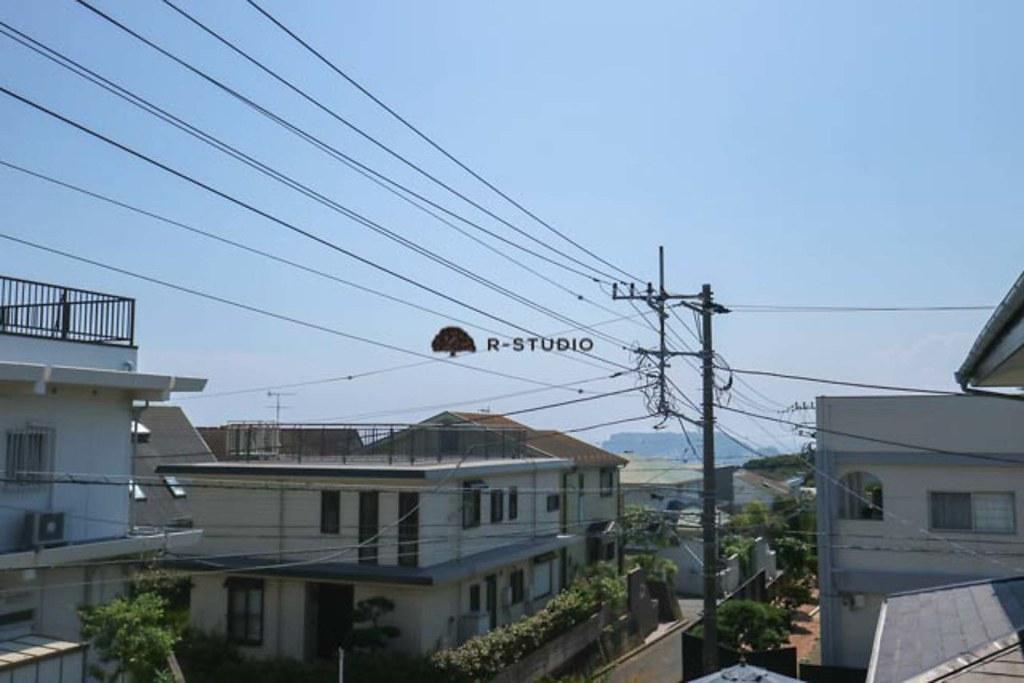 鎌倉の新築戸建:2階からの眺望