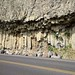 Small photo of Basalt cliffs along the road