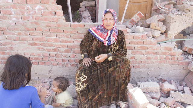After demolishing her home in Egypt's Warraq island