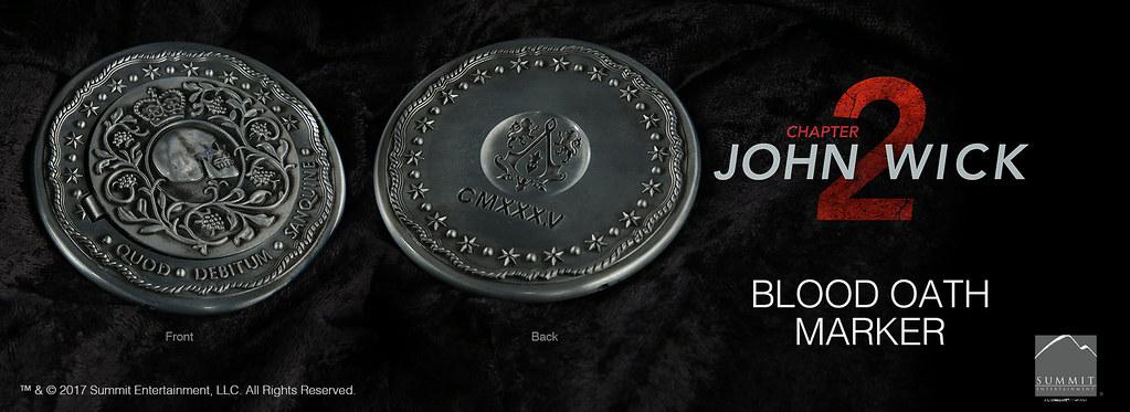 血債血還!!Chronicle Collectibles 捍衛任務2:殺神回歸【血誓印記】Blood Oath Marker 1:1 比例復刻道具
