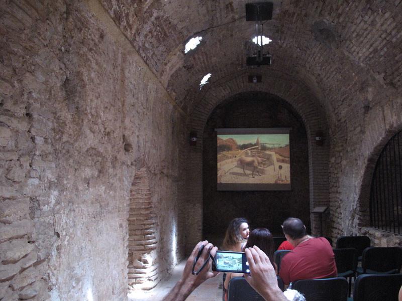 baños árabes sala caliente_proyeccion audiovisual_ronda_noria_agua