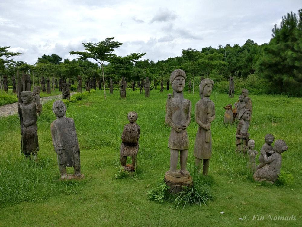 weird statues ethnic village