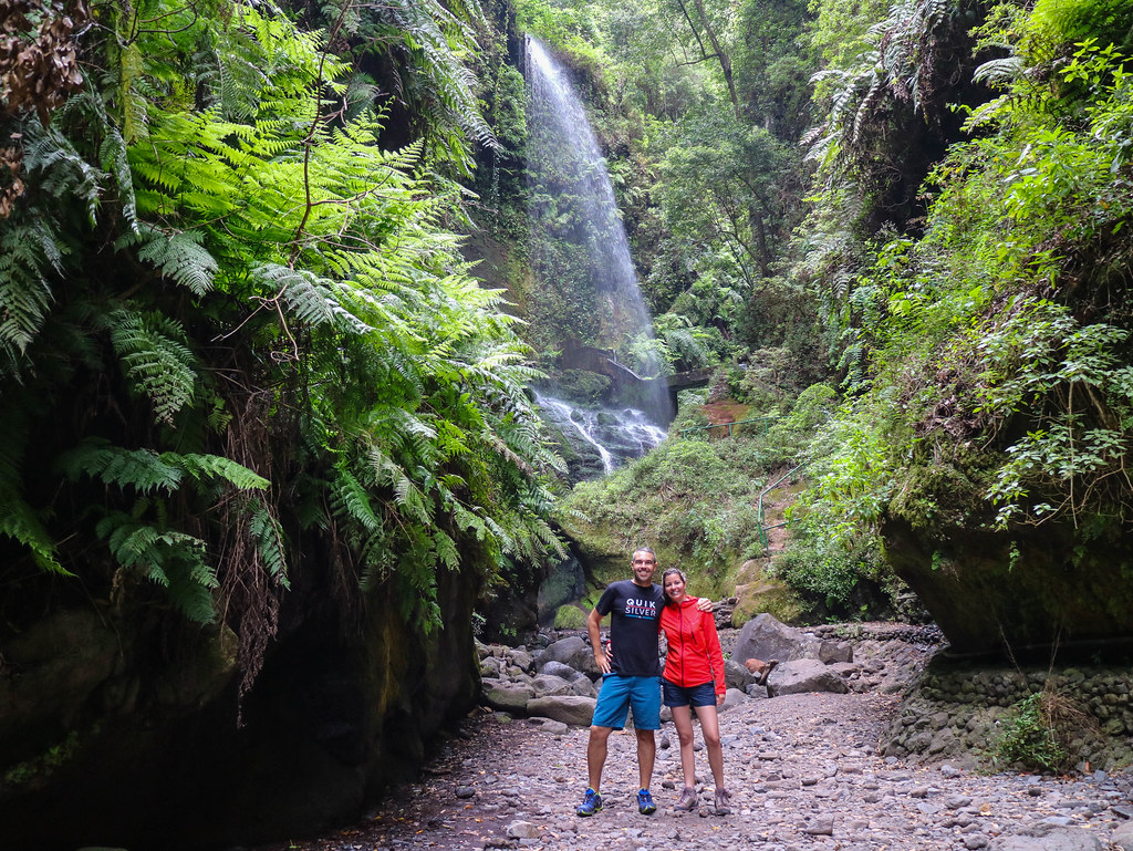 Los Tilos waterfall in La Palma
