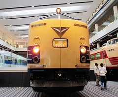 Gekko express passenger train cab car at the Kyoto Railway Museum 8537