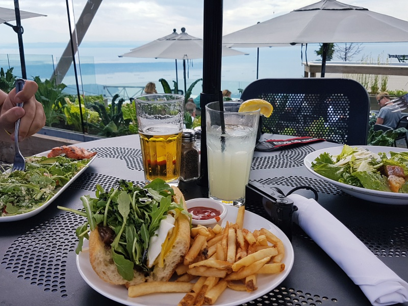 Grouse Mountain terrace restaurant