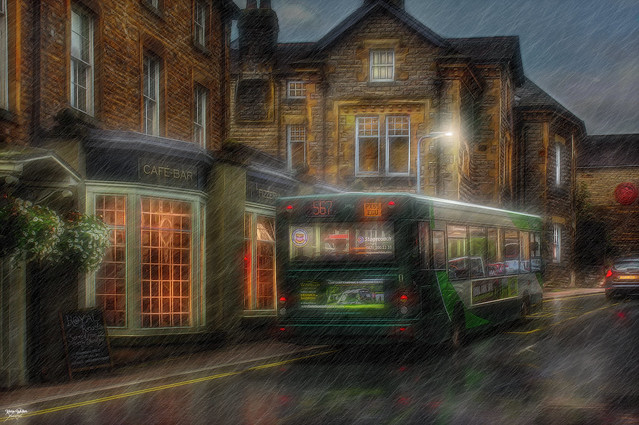 Catching the Bus in the Rain