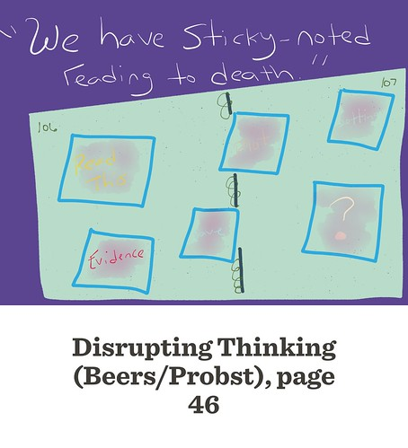 Disrupting Thinking: sticky notes