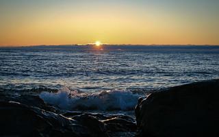 Wave and Sunrise, Duluth